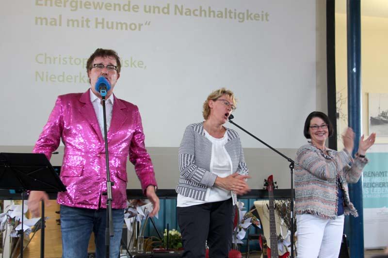 Hapag Hallen Cuxhaven Energiewende und Nachhaltigkeit mit Humor
