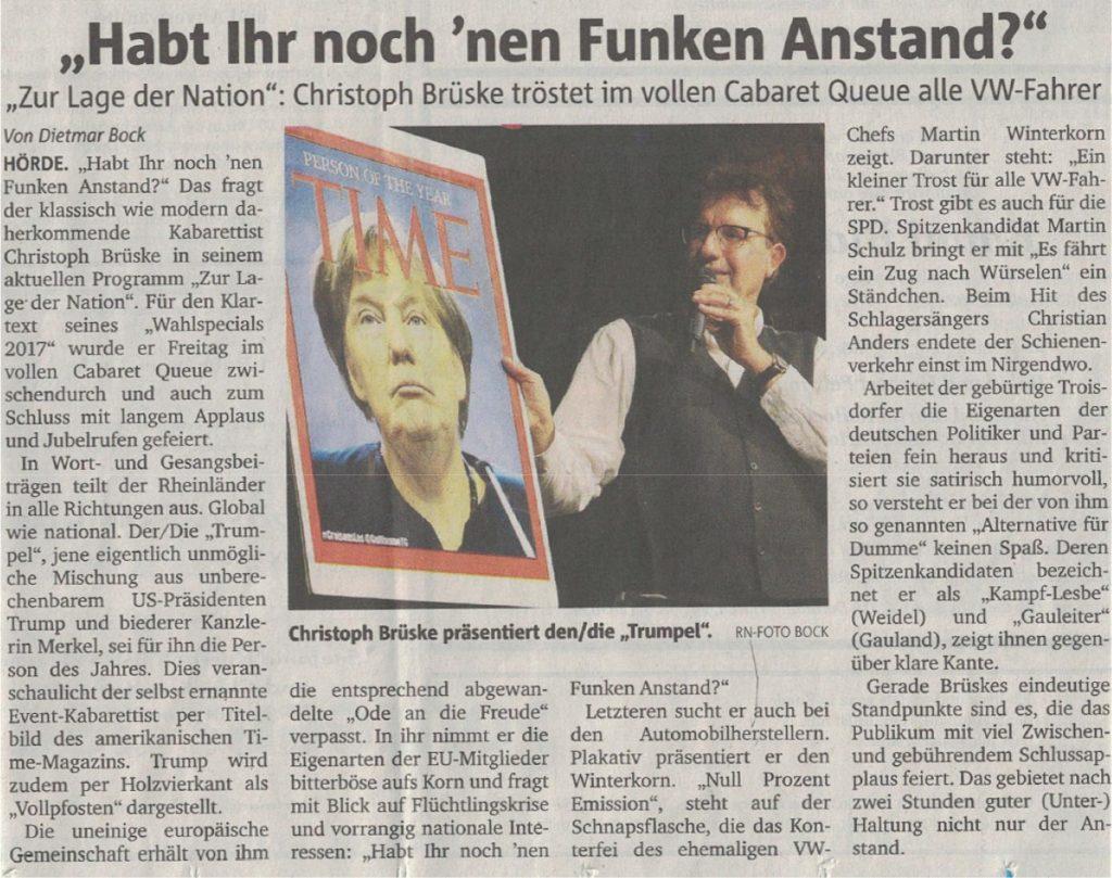 pressekritik Ruhr Nachrichten Zur Lage der Nation