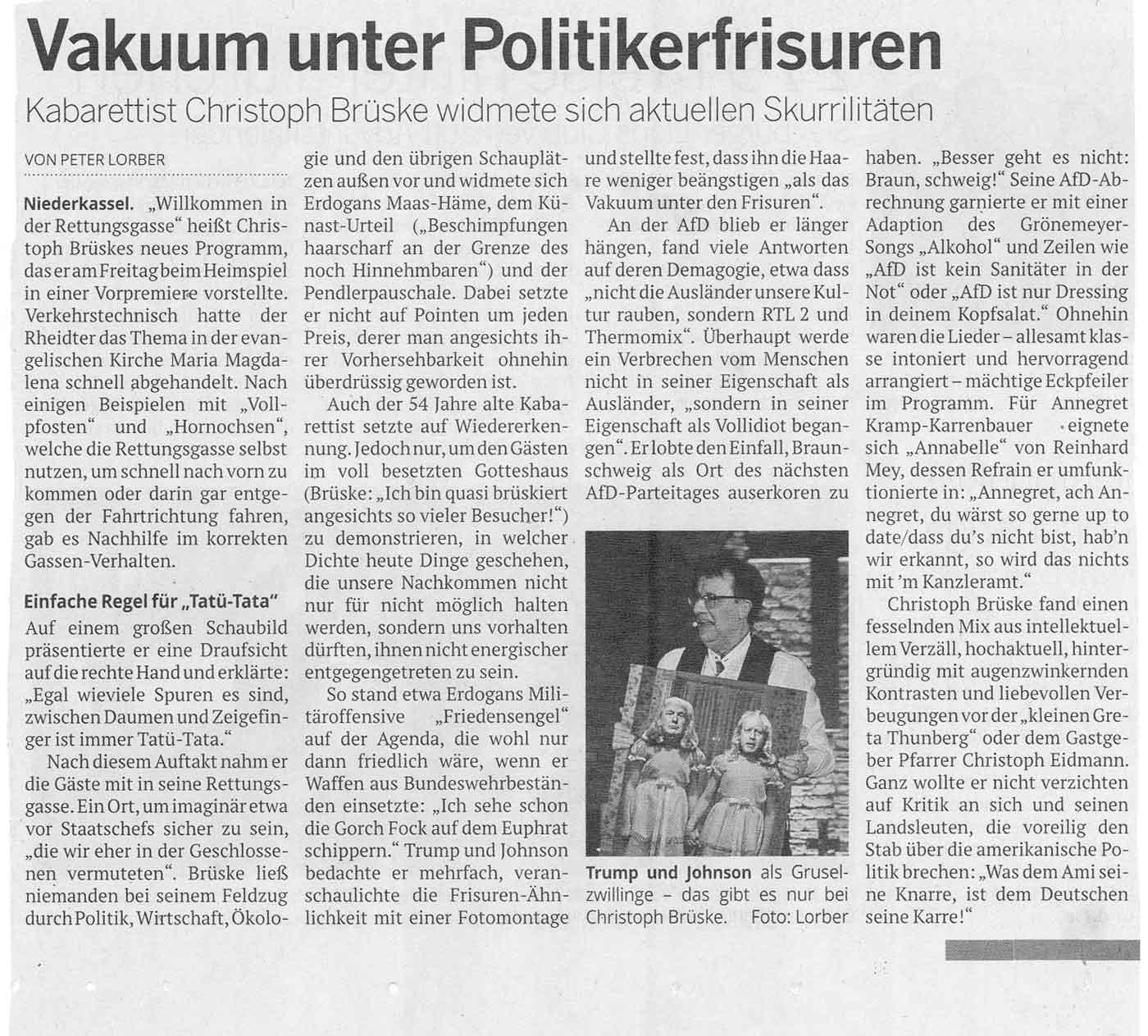 Kritik Kölner Stadtanzeiger Brüske