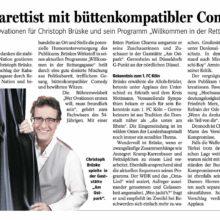 NRZ 13.01.2020 über Kabarettist Brüske